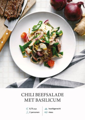 Chilli beef salad with basil