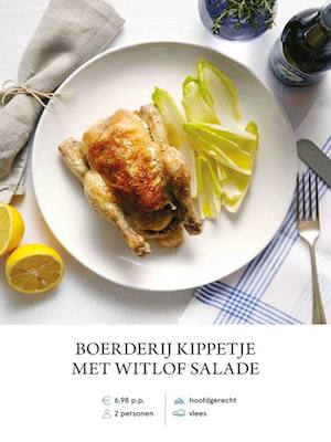 Roast poussin an chicory
