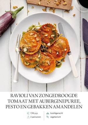 Sundried tomato ravioli
