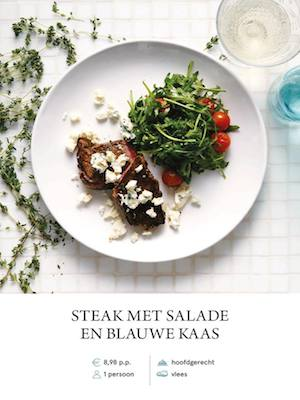 Steak with blue cheese