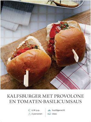 Veal hamburger