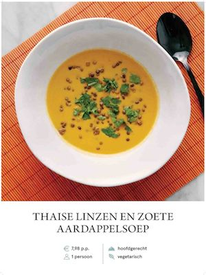 Thai sweet potato and lentil soup