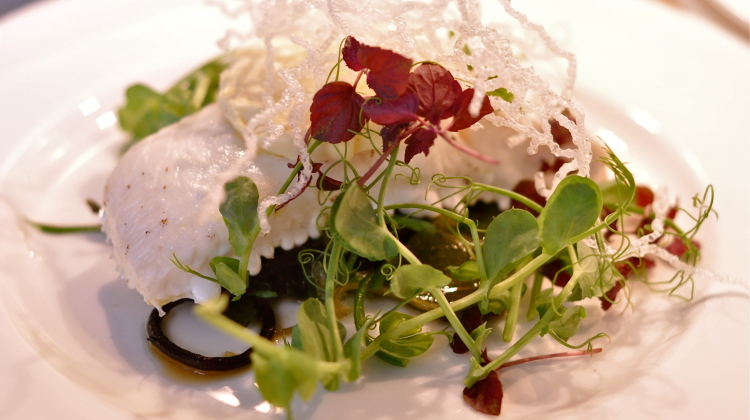 halibut with seaweed salad