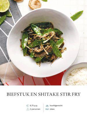 Beef and shitake stirfry