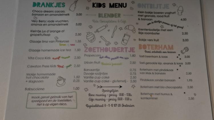menu children