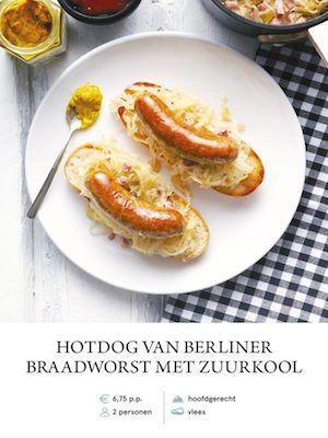Bratwurst Hotdog with Sauerkraut
