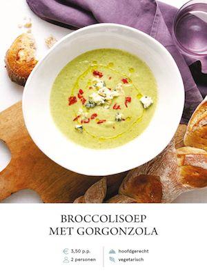 Brocolli Soup with Gorgonzola