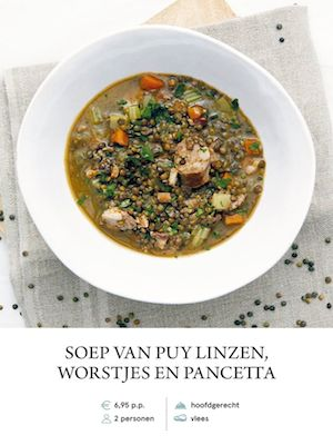 Puy Lentil Soup with Sausage and bacon