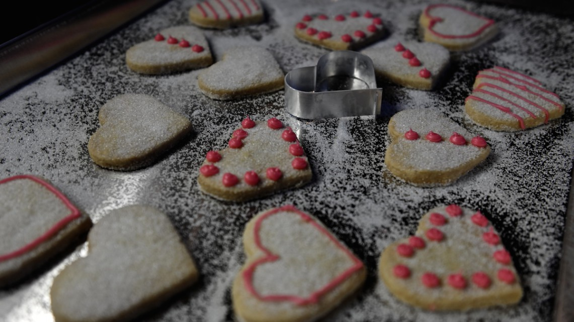 Iced Shortbread Hearts