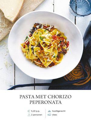 Paparadelle with Chorizo Peperonata