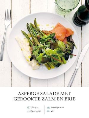 Asparagus Salad with Smoked Salmon and Brie