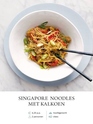 Singapore Noodles with Turkey