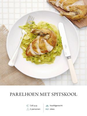 Guinea Fowl with Cabbage