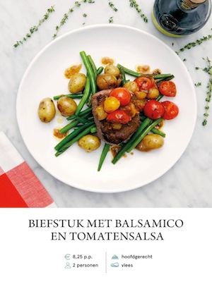 Steak with Balsamic Tomato Salsa