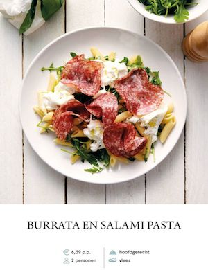 Burrata and Salami Pasta