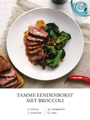 Duck Breast with Brocolli