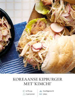 Korean Chicken Burger with Kimchi