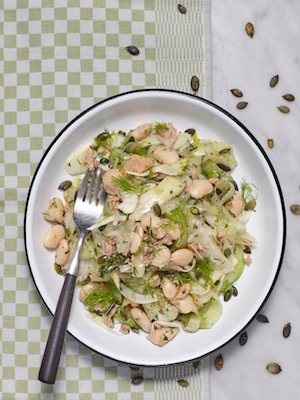 Fennel butter bean salad